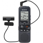 Sony ICD-PX312M Digital Voice Recorder 2GB+MicroSD Slot with Tie-Clip Mic